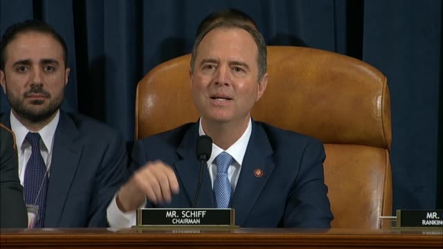 house select intelligence committee chairman adam schiff of california says in his closing statement after testimony by witnesses fiona hill and... - court hearing stock videos & royalty-free footage