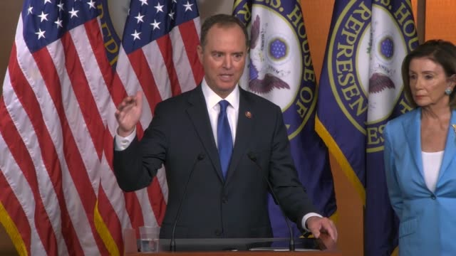 house select intelligence committee chairman adam schiff of california tells reporters at a weekly press conference that investigators only know some... - other stock videos & royalty-free footage