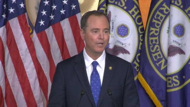 house select intelligence committee chairman adam schiff of california tells reporters at a press conference hours after his committee released its... - 改革論者点の映像素材/bロール