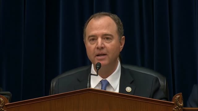 house select intelligence committee chairman adam schiff says at a hearing about it whistleblower complaint directed at president donald trump that... - parchment stock videos & royalty-free footage
