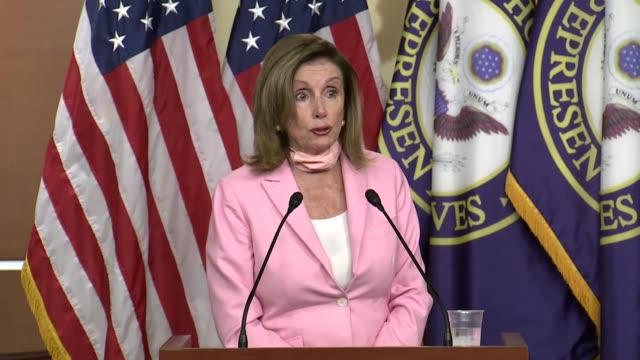 house speaker nancy of california tells reporters at a weekly news conference that republicans like to talk about 600 dollars while she likes to talk... - economy class stock videos & royalty-free footage