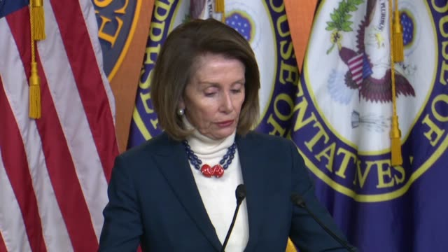 House Speaker Nancy Pelosi begins a weekly briefing to say the week was marked by Americans killed in a terror attack in Syria so very very sad a...