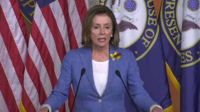 house speaker nancy pelosi of california answers a reporter question two days after public testimony of former special counsel robert mueller whether... - testimony stock videos & royalty-free footage