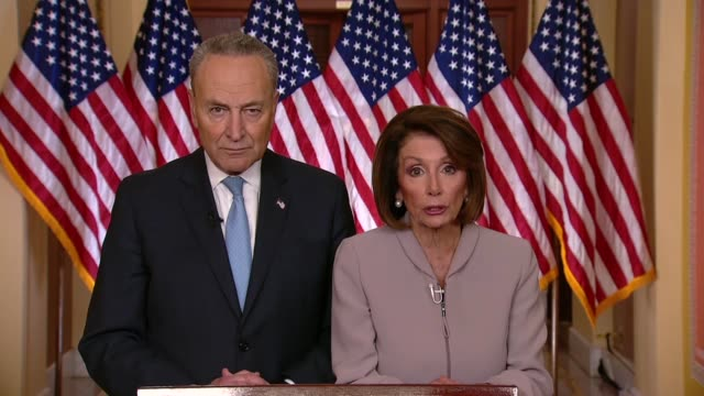 house speaker nancy pelosi of california follows a televised address of president donald trump on the 18th day of a partial government shutdown that... - health and safety点の映像素材/bロール