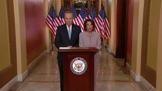 house speaker nancy pelosi of california follows a televised address of president donald trump on how to end a partial government shutdown on its... - legislation stock videos & royalty-free footage