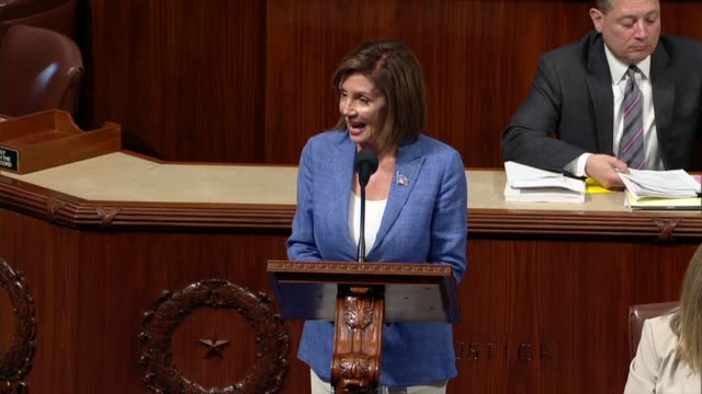 house speaker nancy pelosi of california names the bill in debate on a bill to permanently reauthorize the 9/11 victims compensation fund calling it... - nancy pelosi stock videos and b-roll footage
