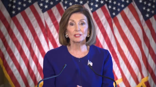 house speaker nancy pelosi of california says in an oncamera statement after meeting with house democrats that on the last day of the 1787... - benjamin franklin stock videos & royalty-free footage