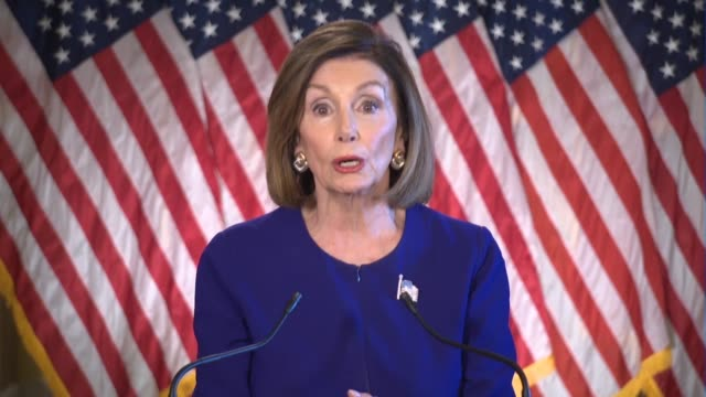 house speaker nancy pelosi of california says in an on-camera statement after meeting with house democrats that the republican endures because of the... - constitution stock videos & royalty-free footage