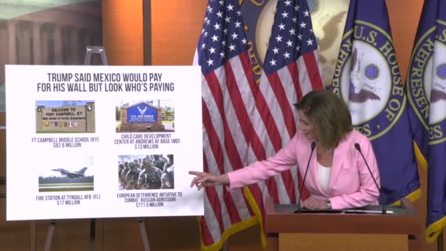 house speaker nancy pelosi of california says in criticizing what he reprogrammed from the defense department to southern border wall construction... - southern european stock videos & royalty-free footage