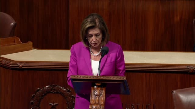 house speaker nancy pelosi of california says in debate on a resolution condemning tweets of president donald trump directed at four democrats that... - nancy pelosi stock videos and b-roll footage
