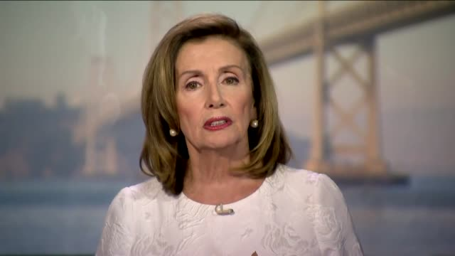 house speaker nancy pelosi of california says in live broadcast remarks to the 2020 democratic national convention that as speaker of the house, she... - live broadcast stock videos & royalty-free footage
