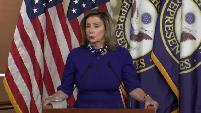house speaker nancy pelosi of california tells reporters at a weekly news conference that sites in terms of hoping and praying for signs to develop... - office politics stock videos & royalty-free footage