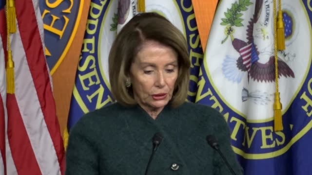 house speaker nancy pelosi of california tells reporters at weekly briefing on day 20 of a partial government shutdown that on the 2016 campaign... - soap opera stock videos & royalty-free footage