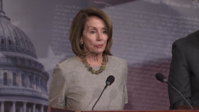 house speaker nancy pelosi remarks that òour unity is our power, and that is what maybe the president underestimatedó during her statement after the... - united states and (politics or government) stock videos & royalty-free footage