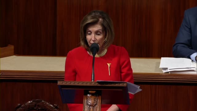 vidéos et rushes de house speaker nancy pelosi says in debate on the usmca trade deal implementing legislation that with changes by democrats the deal had the strongest... - promulguer