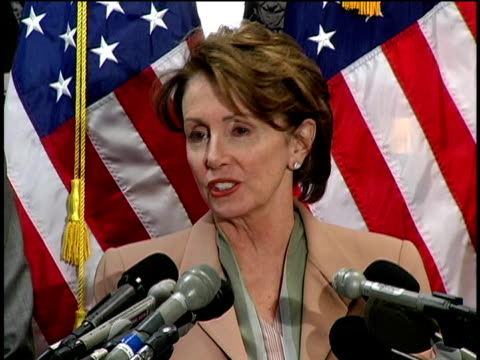cu house speaker nancy pelosi speaking at a press conference about the oil industry/ washington dc/ audio - 2006 stock videos & royalty-free footage