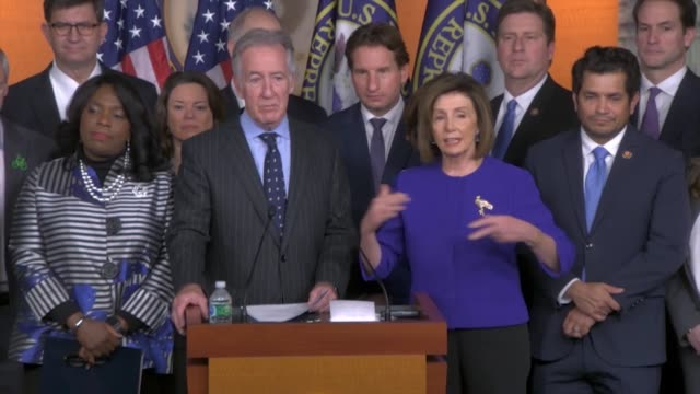 house speaker nancy pelosi tells reporters at a press conference about the usmca trade agreement that democrats did not want to inch forward but set... - inch stock videos & royalty-free footage
