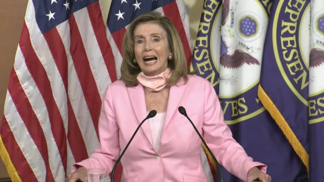 vidéos et rushes de house speaker nancy pelosi tells reporters at a saturday press conference that reporters ought to ignore republicans in the trump administration... - post it