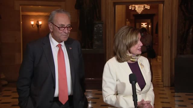 house speaker nancy pelosi tells reporters says tells reporters after a ninth day of negotiations with trump administration officials on a second... - anorexia nervosa stock videos & royalty-free footage