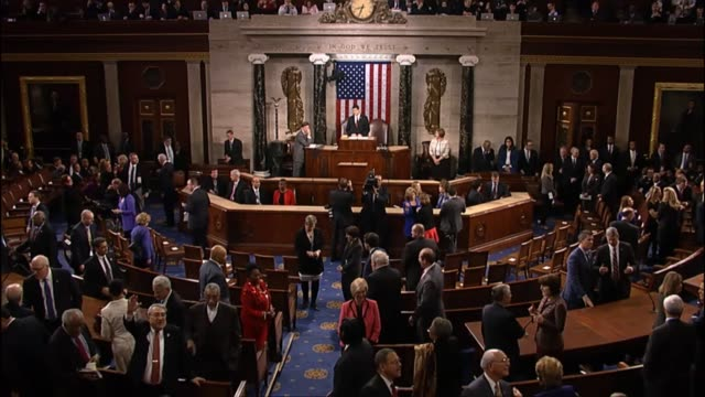 house speaker paul ryan and vice president joe biden name the escort committees of members of congress to accompany president barack obama into the... - rede zur lage der nation usa stock-videos und b-roll-filmmaterial