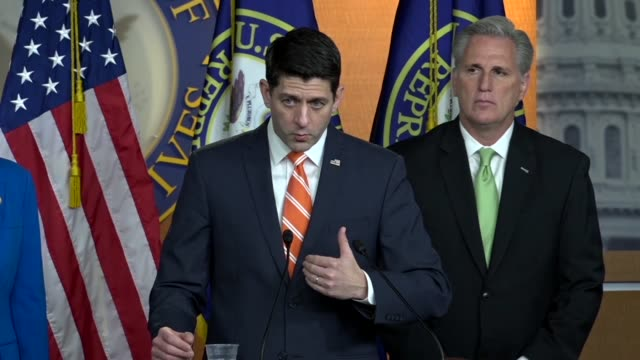 House Speaker Paul Ryan answers a reporter's question at a weekly briefing that the deadline for the Deferred Action for Childhood Arrivals program...