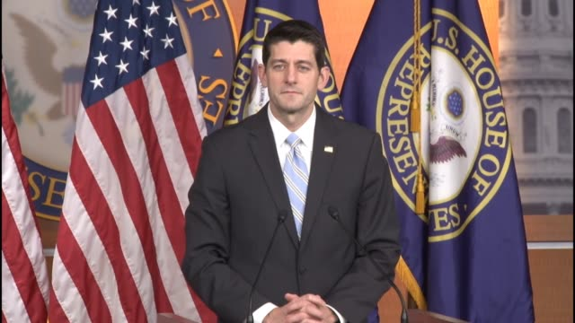 house speaker paul ryan of wisconsin indicates that his mood the week of the 2016 state of the union address will depend on the play of the green bay... - speaker of the house stock videos and b-roll footage