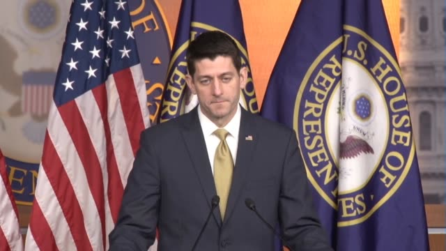 House Speaker Paul Ryan of Wisconsin is asked about the Senate battle over filling a Supreme Court vacancy as Republicans refused to hold a hearing...