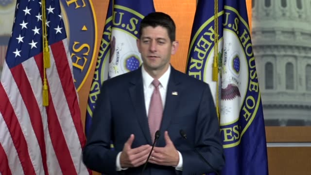 house speaker paul ryan of wisconsin says at a weekly press briefing not to turn the floor over to the minority but to pursue a daca solution that... - speaker of the house stock videos and b-roll footage
