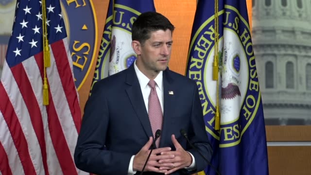house speaker paul ryan of wisconsin says hours after three us citizens were released by north korea that president donald trump was getting prepared... - speaker of the house stock videos and b-roll footage