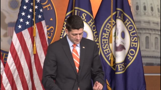 house speaker paul ryan of wisconsin says it has been a great week for the house after three days considering a highway bill says strategy sessions... - speaker of the house stock videos and b-roll footage