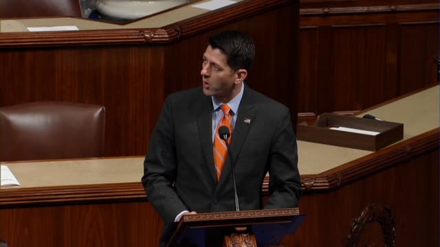 house speaker paul ryan of wisconsin speaks from the well of the house during national police week to welcome law enforcement to washington that in... - eulogy stock videos & royalty-free footage