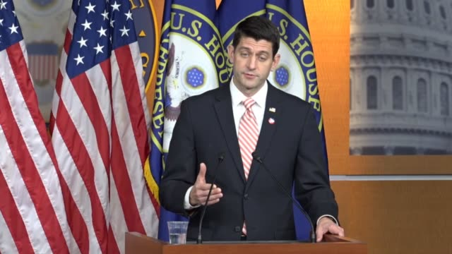 house speaker paul ryan of wisconsin takes questions from reporters on the last day of the 114th congress saying that in a recent 60 minutes... - speaker of the house stock videos and b-roll footage