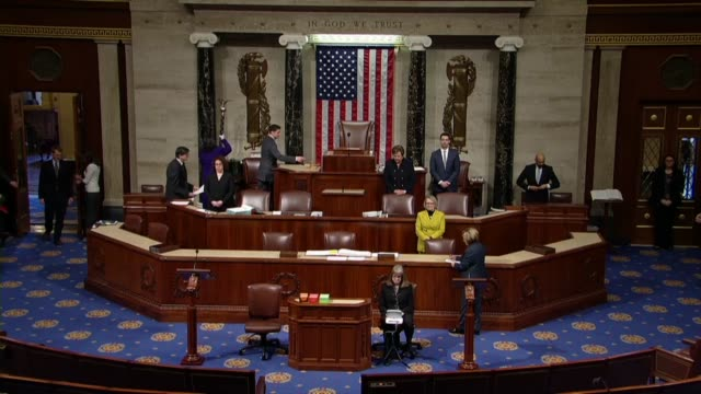 House Speaker Paul Ryan of Wisconsin takes the dais to gavel in the house with a moment of silence in honor of those killed or wounded in military...