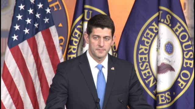 House Speaker Paul Ryan of Wisconsin tells reporters at a weekly briefing that although he cannot speak for the senate he acknowledges receipt...