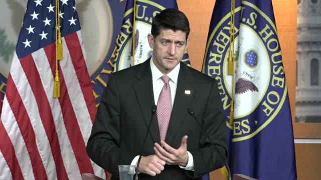 House Speaker Paul Ryan of Wisconsin tells reporters that every claim of sexual harassment should be taken seriously an independent ethics body in...