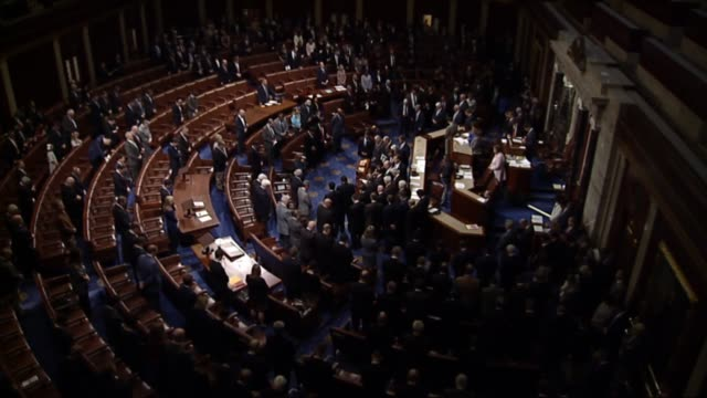 house speaker paul ryan pauses a series of votes in the house of representatives as members of the texas delegation gather in the well for a moment... - house of representatives stock videos & royalty-free footage