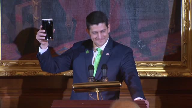 house speaker paul ryan says at the annual luncheon in the capitol that what is wonderful about the tradition is a shared heritage, before notre dame... - infantry stock videos & royalty-free footage