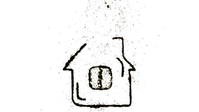 vídeos de stock e filmes b-roll de house - old illustration