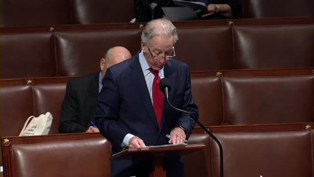 house ways and means committee chairman richard neal of massachusetts says in debate on the cares act to deal with economic and health care aspects... - disegno di legge video stock e b–roll