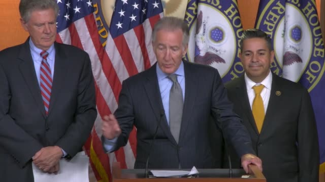 house ways and means committee chairman richard neal says at a press conference on a prescription drug pricing bill that stories are heard typically... - prescription drug costs stock videos & royalty-free footage