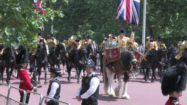 household cavalry band trooping the colour london - trooping the colour stock videos & royalty-free footage
