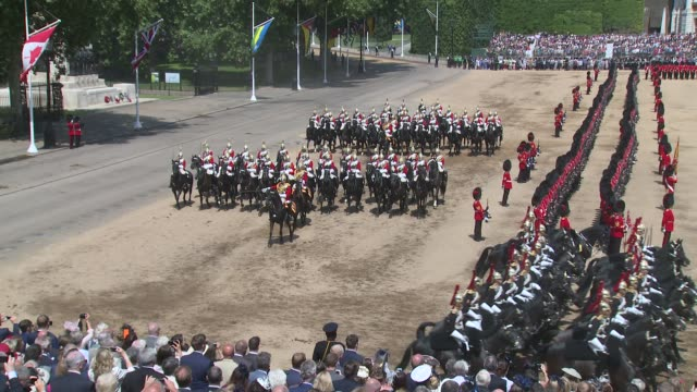 Household Cavalry The Life Guards The Blues And Royals at Horse Guards Parade on June 09 2018 in London England