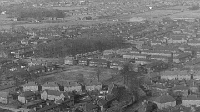 1951 montage households moving from densely populated areas to more spacious housing estates / united kingdom - 1951 stock videos & royalty-free footage