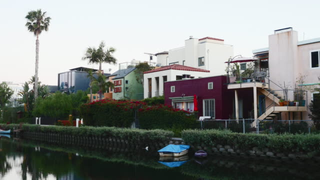 houses and apartments on canal - venice california stock videos & royalty-free footage