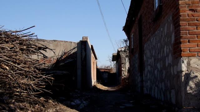 Häuser und Straßen im ländlichen China