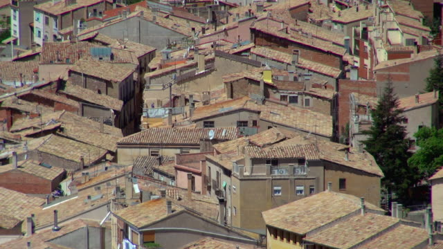 houses in cardona spain close to each other - weitere themen stock-videos und b-roll-filmmaterial