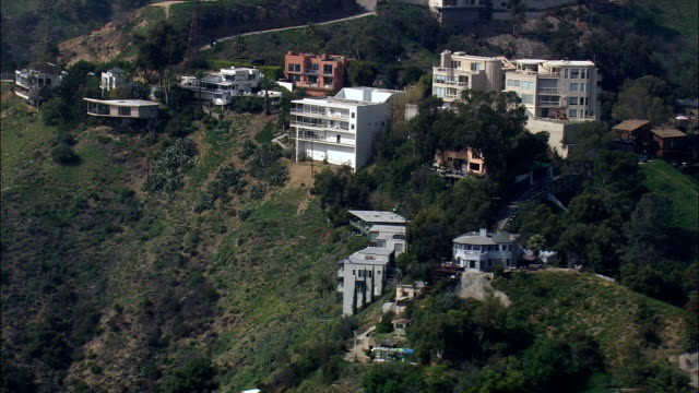 Houses In Hollywood Hills  - Aerial View - California,  Los Angeles County,  United States