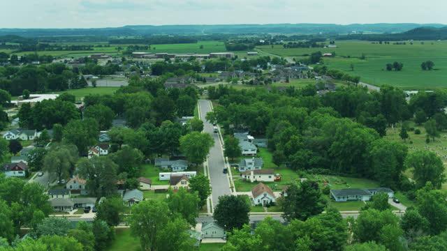 ウィスコンシン州モーストンの住宅 - 航空 - ウィスコンシン州点の映像素材/bロール