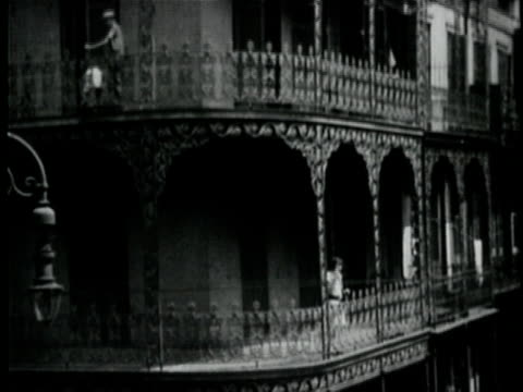 vídeos de stock, filmes e b-roll de 1929 b/w montage houses of / new orleans, louisiana - 1920 1929