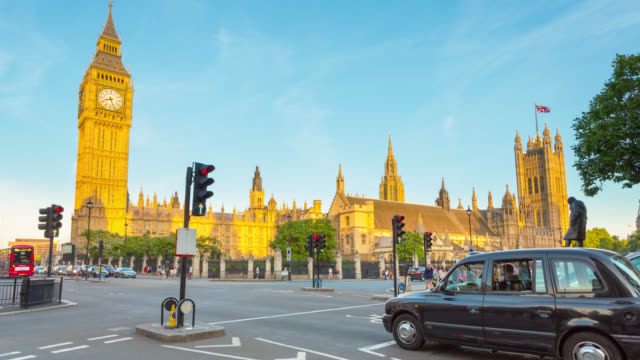 Houses of Parliament and Big Ben at sunset.